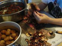 皮むき / peel a chestnut