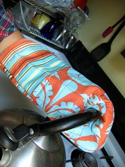 Denyse Schmidt Oven Mitt - In Use