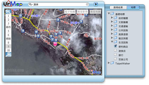 [Dashboard widget] urmap 0.1a1 - 衛星地圖