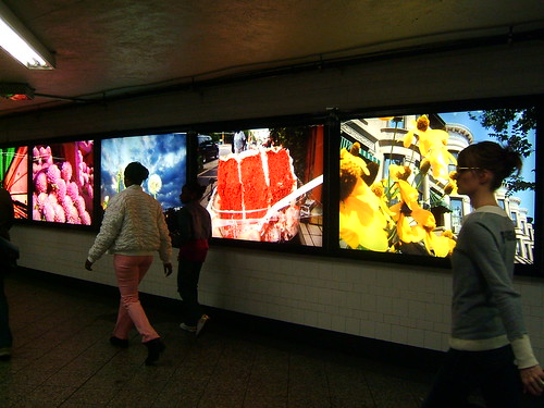 subway lightboxes