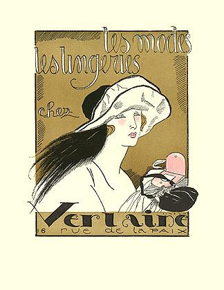 Fernand Simeon, La Gazette du Bon Ton, Verlaine ad, 1920