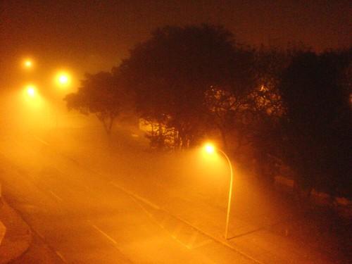 neblina na minha rua