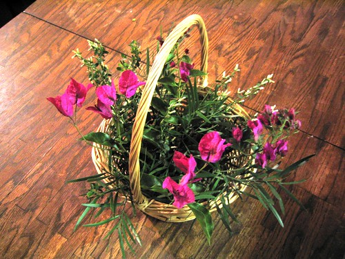 Local Flowers in a Basket