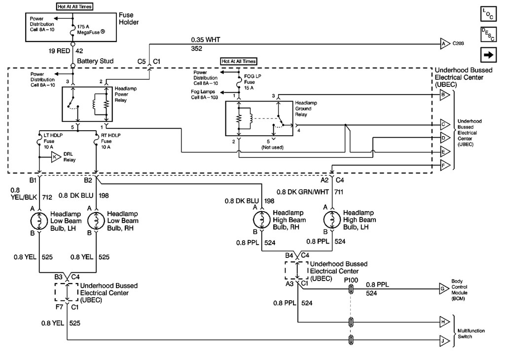 Headlight Wiring Diagram 98+ | S-10 ForumS10 Forum