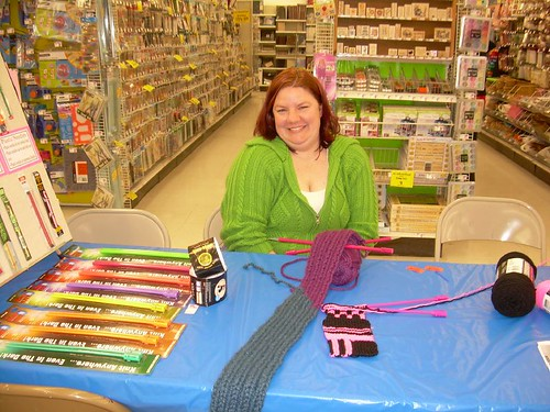 Amie at AC Moore's yarn event