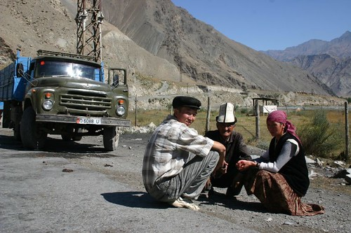Hanging out, Kyrgyz style.