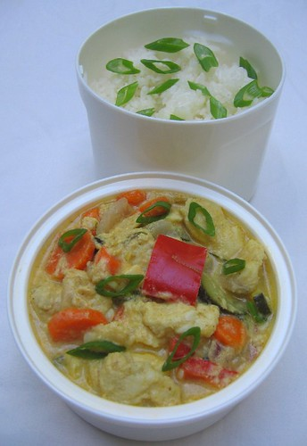 Thai catfish curry lunch