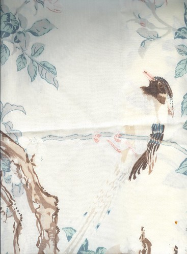 Asian Bird Pillowcase