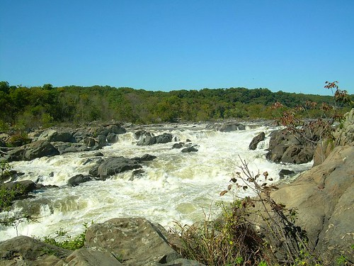 Great Falls, Potomac River.  Maryland side.