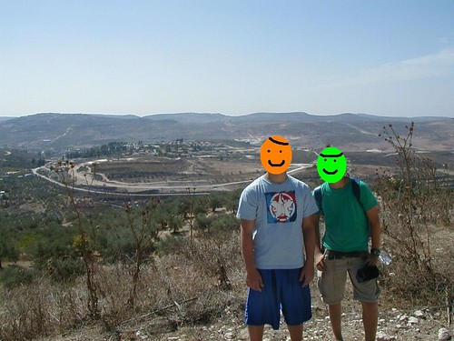 View of Shavei Shomron from Sebastia