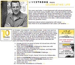 LIVESTRONG 10 years Celebration
