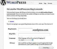 Wordpress Signup Page