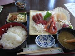 小名浜の食堂うろこいちの刺身定食