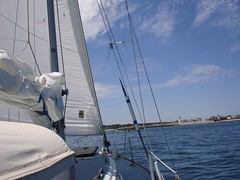 Sailing in Scituate harbor