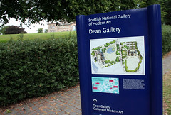 Sign and map near entrance to Edinburgh's Dean Gallery