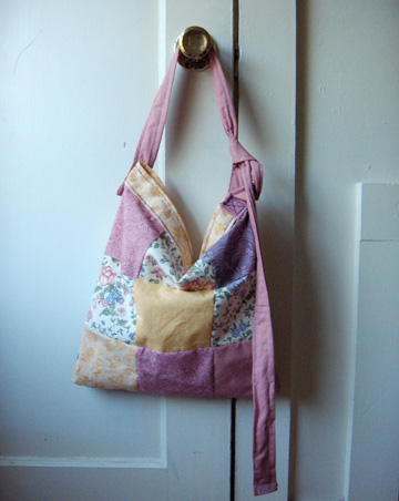 patchwork bag-short strap