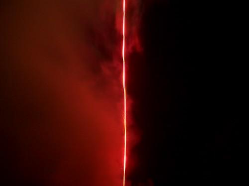 fireworks, red & black