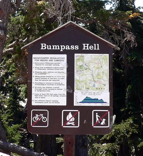 bumpass hell sign