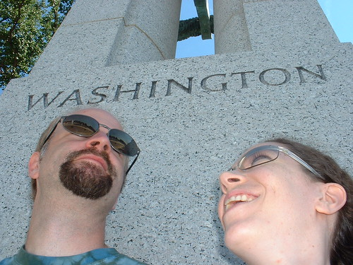 Rob & Eshinee at WW2 Memorial