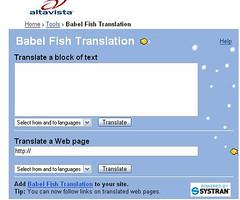 Altavista's Babelfish