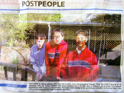 Rotorua當地報紙報導光武遊學團-2