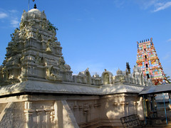 Chikka Tirupathi - Shikara and Gopuram in one view