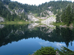 Glasses Lake Reflection