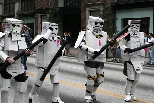 Cardboard box Troopers!