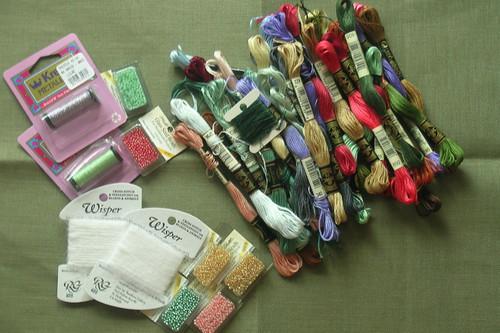 cross-stitch supplies