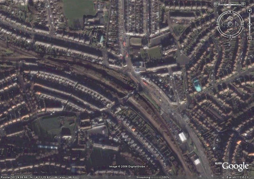 St Budeaux Station from Google Earth