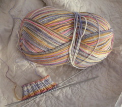 Trekking XXL Color #160 and start of a sock!