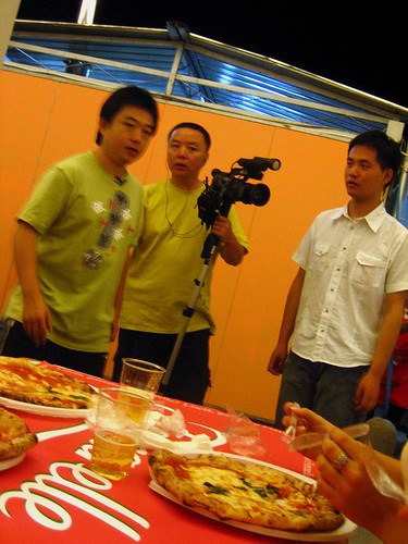 Chinese Film Crew Interviewing Us at Pizzafest