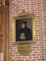 Painting of Martin Luther in Helsingborg church