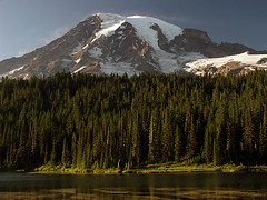 Mount Rainier at Reflection Lakes
