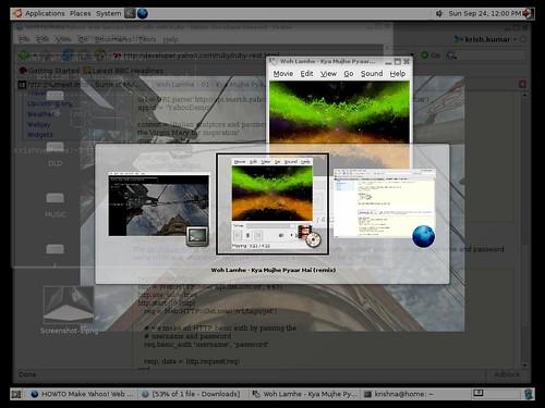 xgl, compiz screenshot