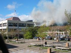 Fire near Otago Polytechnic
