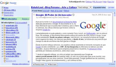 El nuevo Google Reader