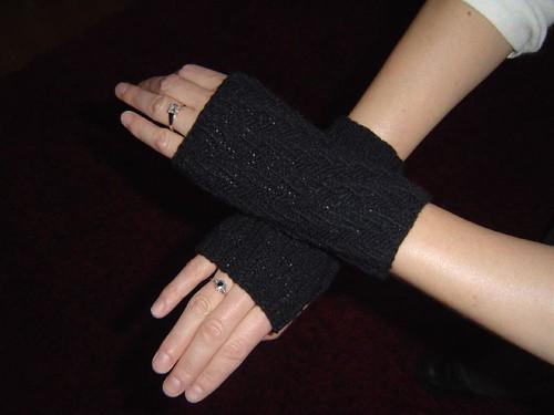 black wrist warmers