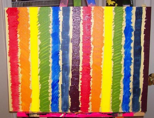 Rainbow with Masking Tape