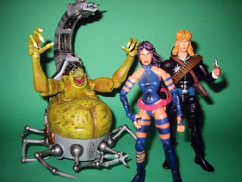 Mojo, Psylocke, and Longshot