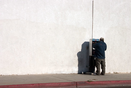 Wall with Phone with Guy