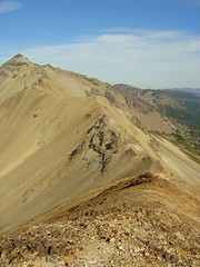 Tieton Peak and Ridge From Red Bump Above Cold Lake