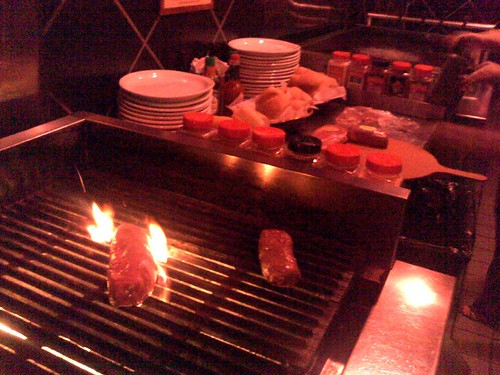 The grilling station at Gaslamp Strip Club