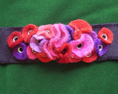 Pink Red and Purple Wrist Cuff