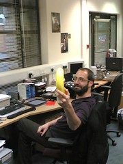 Sid offers me the Banana Protector