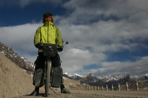 At the top of the first high pass on the Forbidden Highway into Tibet, Western Tibet