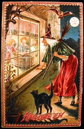 Halloween-Peeping Witch