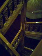 Dark dark dark dark dark dark I think they're stairs.
