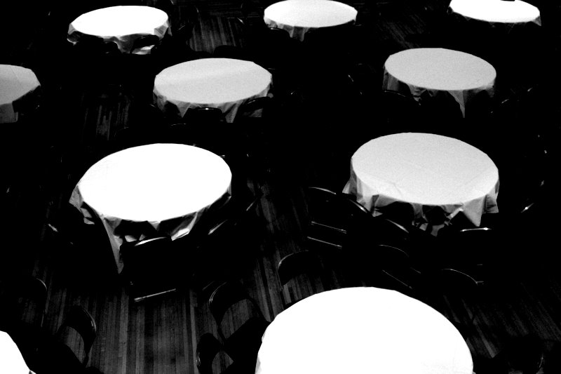Tables spread out in the International House - Uchicago