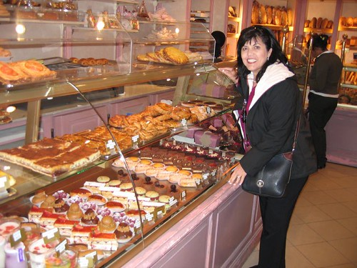 Mom @ the French patisserie shop in Paris